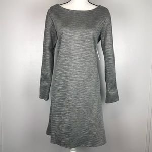 NEW Thyme & Honey Gray Striped Dress Large A270